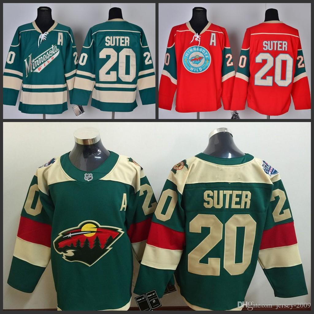 241bcf8a9 2019 2016 Stadium Series Minnesota Wild  20 Suter Scott Hockey Jerseys Home  Red White Green Stitched S 3XL From Jersey 2009