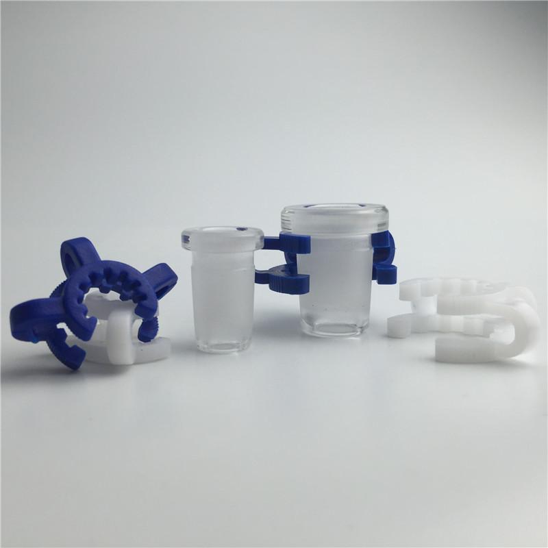 mini adaptador de vidro com 10mm fêmea para 14mm macho 14mm fêmea para 18mm macho grosso forsted boca colorido keck clipe para fumar