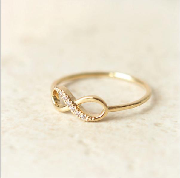 New fashion infinity con trapano 18 k oro rosa in lega di zinco monili delle donne festival migliore regalo