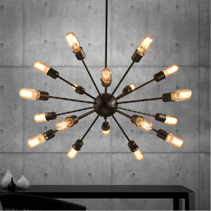 Discount Vintage Pendant Lights Rope Edison Bulb Lamp Modern Fixtures Lighting Led Industrial Iron Pipe Antique Light Spider Loft Lamps Dining Room