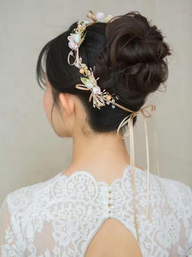 HIMSTORY Handmade Pérola Headband Floral Hairband Mulheres Bonito Jóias Enfeites de Cabelo Nupcial Coroa Acessórios Do Casamento presentes