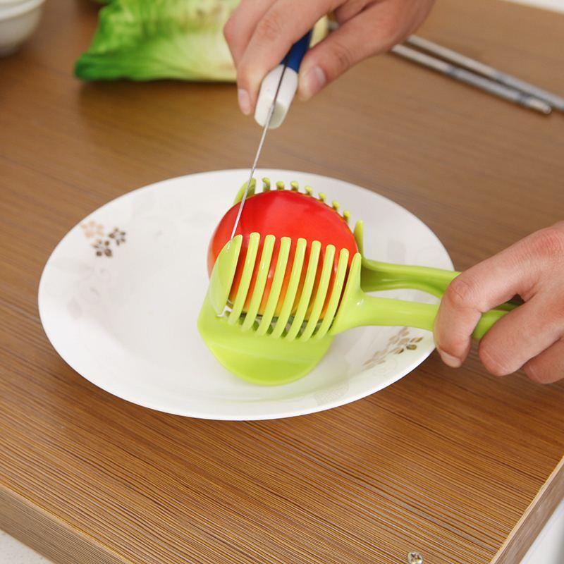 handheld tomato slicer creative kitchen fruit vegetable slicer orange lemon cutter cake clip kitchen tool
