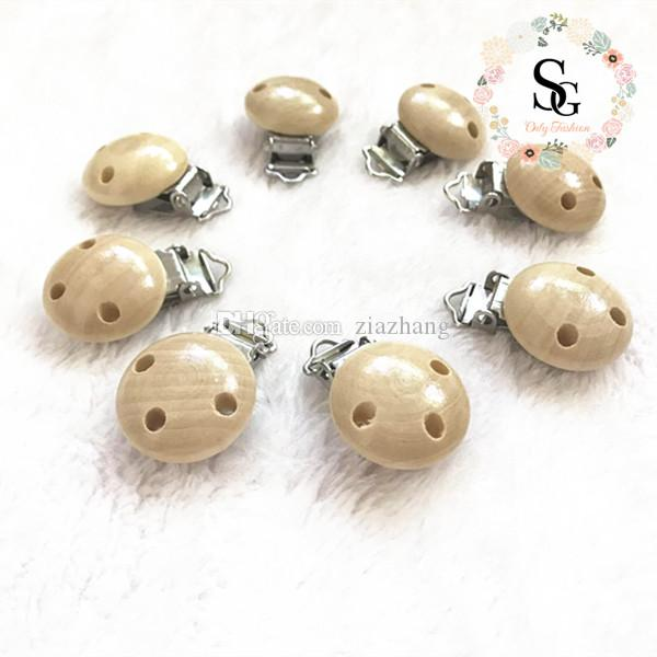 nature 3 holes wood baby pacifier clips,wood pacifier clips,safe certified pacifier clips,natural wood clips