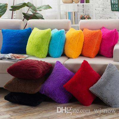 very soft warm plain faux fur mink cushion cover plush pillow case home sofa car decoration outdoor patio cushion covers spotlight outdoor cushions from