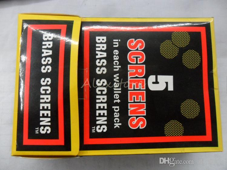 Tabacco pipa tabacco Filtri metallici Argento e ottone Acciaio inox 20mm Ciotola in rete pipa fumatori 5 pezzi / lotto
