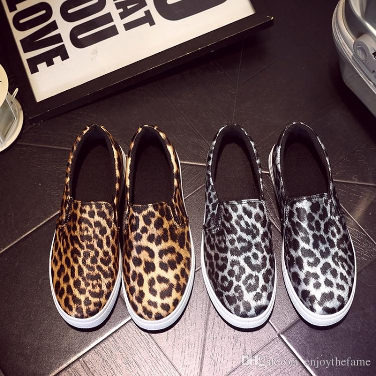 f71f26b467d Europen New Style Comfortable Leopard Print Women Slip On Casual Flats Shoes  Platform Shoes Woman Loafer Shoes Size 36 40 Black Shoes Wholesale Shoes  From ...