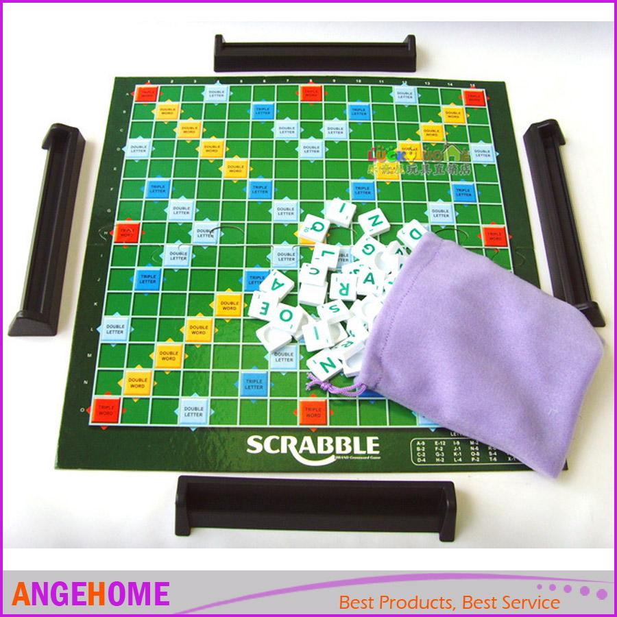 Game with shapes of different colors crossword - Scrabble Game Original Scrabble Board Game English Crossword Spelling Game Education Toys By Angehome Educational Toys Games Kid Learning Toys From
