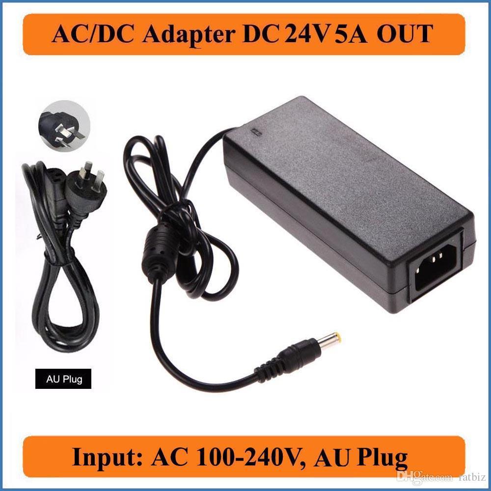 24 V 5A AC DC 2.1-2.5x5.5mm AU Plug Jack AC Universal 110 V / 220 V Conversor para DC 120 W Carregador de Alimentação Para Tiras de LED