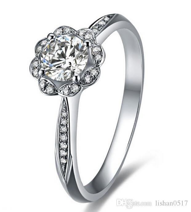 Best Lcz Jewelry Sona Simulated Diamond Wedding Rings For Women