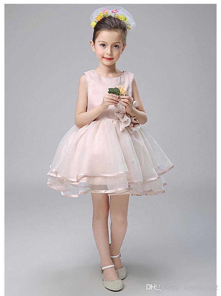 2016 горячие продажи девушки Принцесса платье аппликации Детская одежда новорожденных девочек тюль платье детские платья для девочек свадебное платье заводские розетки