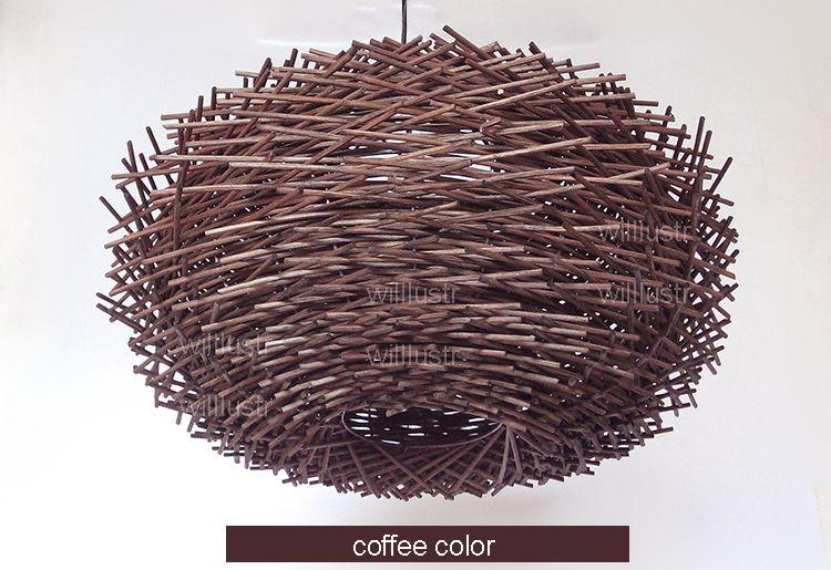 willlustr плетеная подвесной светильник ручной работы птичье гнездо подвеска свет отель ротанг ресторан торговый центр лаундж-бар крыльцо висит люстра освещение