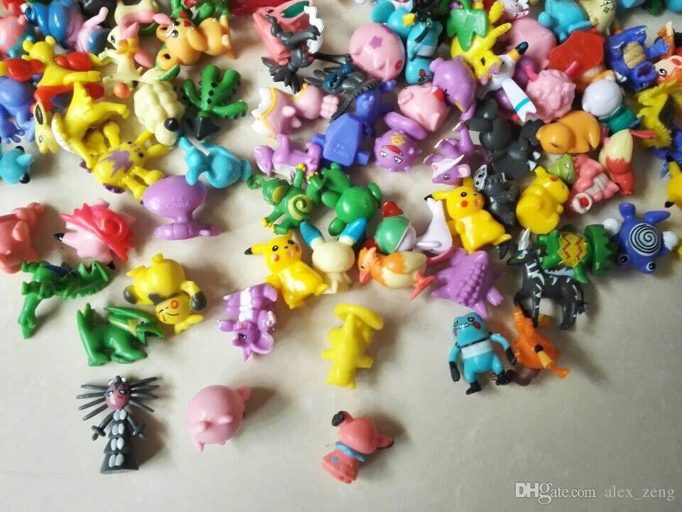 144 UNIDS Monster Pikachu Juguetes PVC Dibujos Animados Cosplay Películas Figura de Acción Decoración Muñeca Juguetes Niños Niños Regalos 3 CM