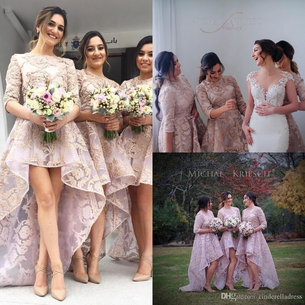 Zuhair murad arabic hi lo jewel neck half sleeves bridesmaids 10 ombrellifo Gallery