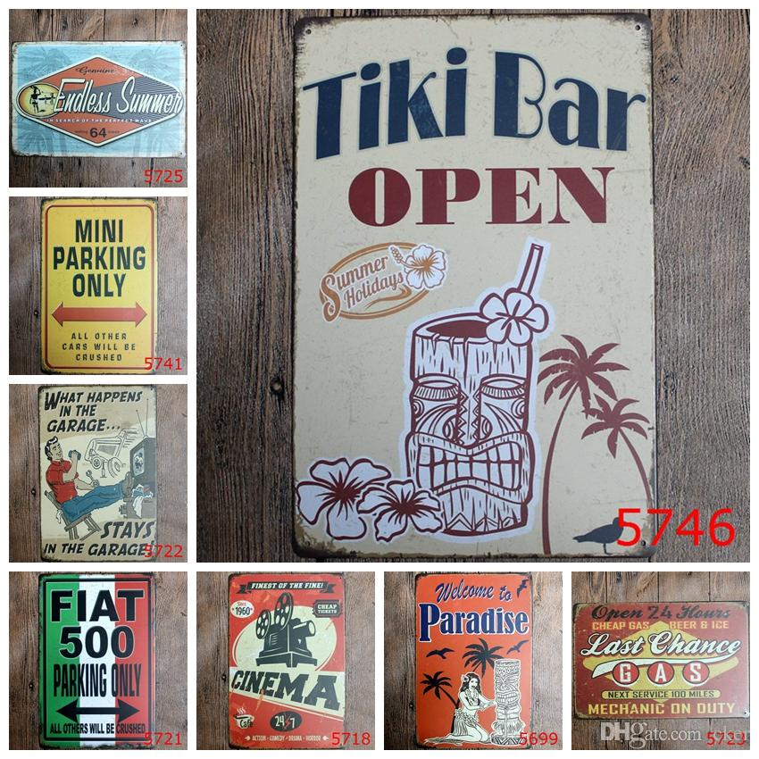 Tiki bar open welcome to paradise classic Coffee Shop Bar Restaurant ...