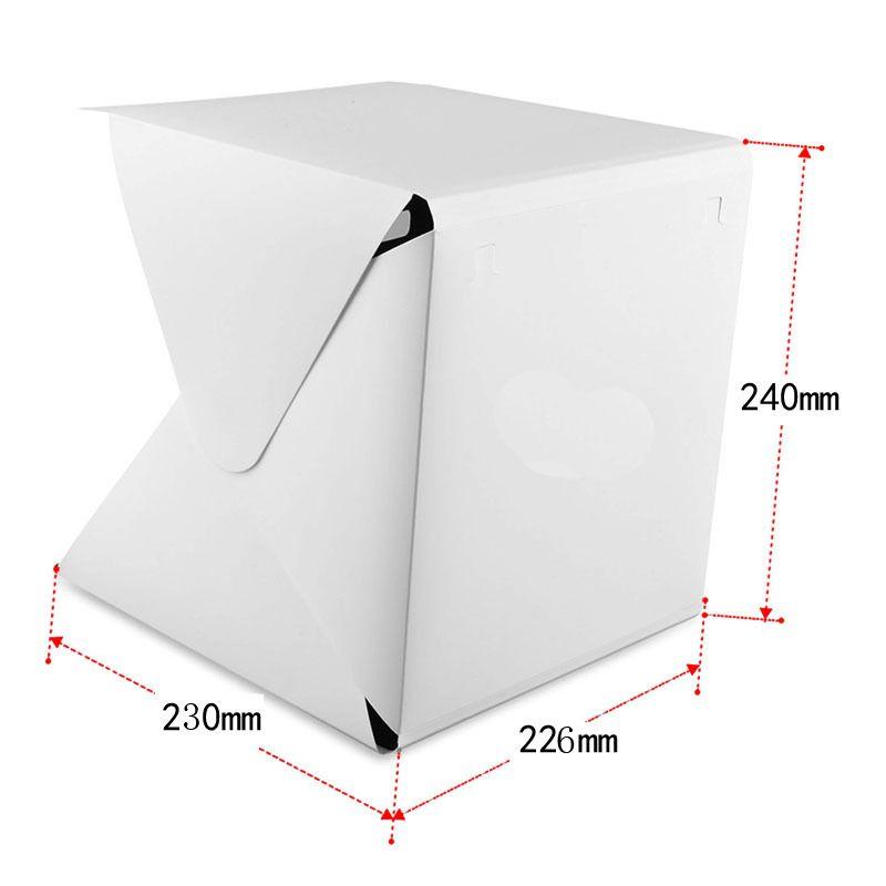 흰색과 검은 배경 휴대용 사진 상자와 소형지도 사진 스튜디오 접이식 촬영 텐트 사진 조명 텐트 키트