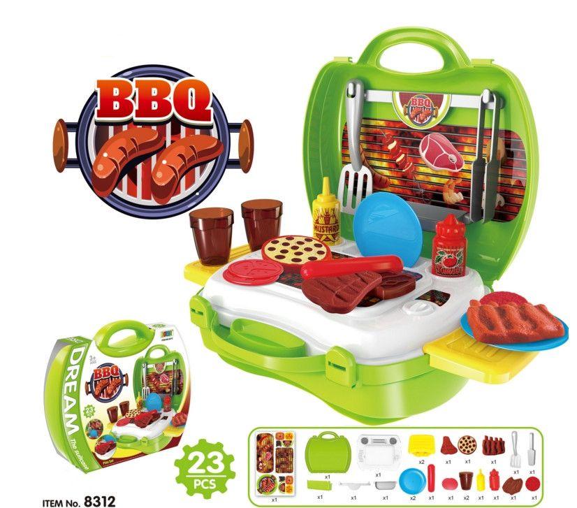 Children simulation kitchen cooking tableware dresser cash register tool doctor suitcase toy set Christmas Gifts for children