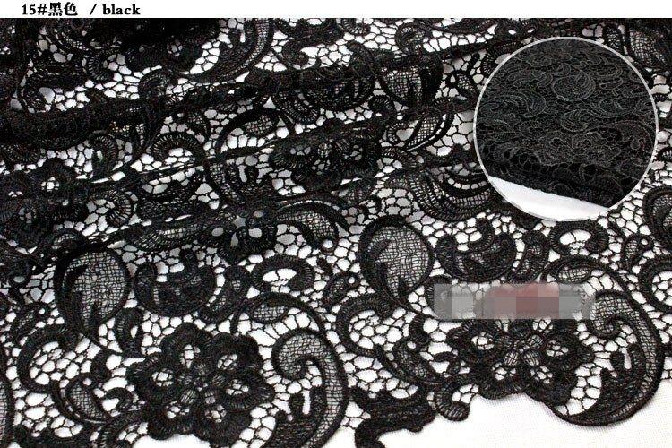 2019 Encantador Rendas Tops de Alta Qualidade 24 Cores Solúvel Em Água 3D Laço Africano Veneza Rendas Tecidos / Vestido De Noiva Tecidos Frete Grátis HY1178