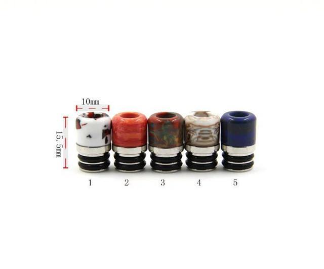 Yeni Reçine Paslanmaz Çelik 510 Ego damla İpuçları kısa geniş delik metal damla İpucu ağızlık rba rda atomizer vape için renkli driptip DHL
