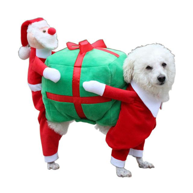 KIMHOME PET Dog Clothes For Small Dogs Winter Cotton Coat Dog Christmas  Costume For Medium Large Dogs Carry A Gift Pet Clothes Dog Christmas  Costume Dog ... - KIMHOME PET Dog Clothes For Small Dogs Winter Cotton Coat Dog
