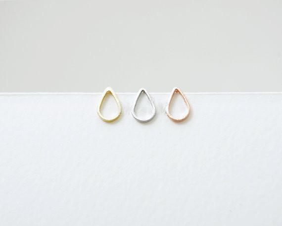 Moda di gocce d'acqua a forma di orecchini, forma di telaio di orecchini acqua all'ingrosso spedizione gratuita