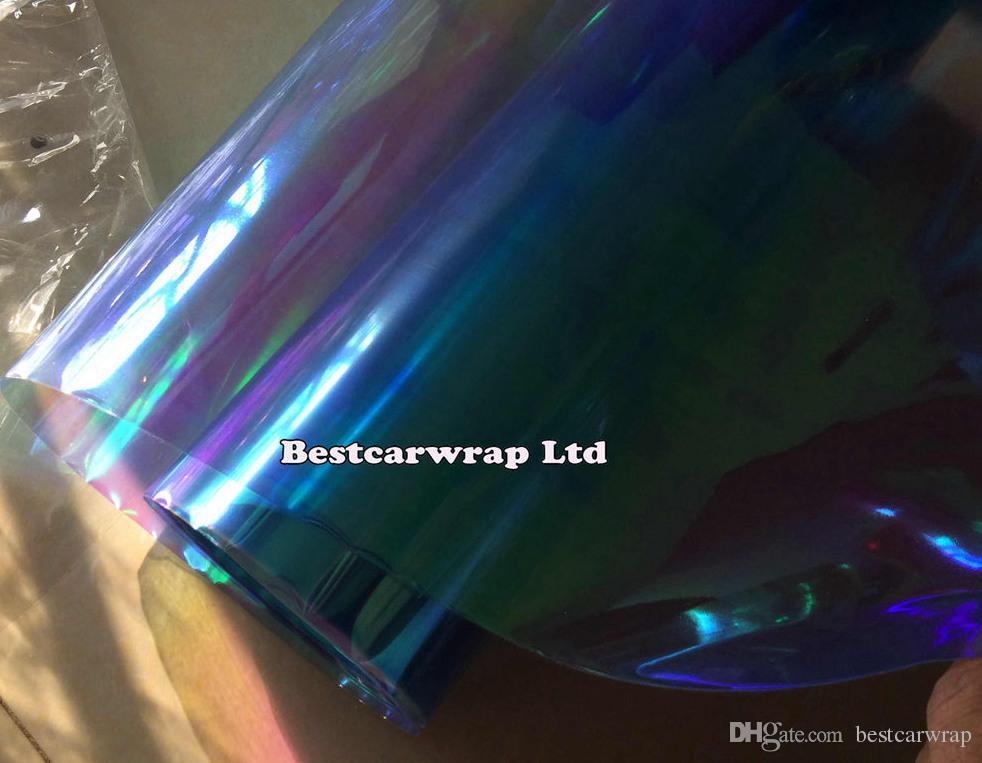 1 roll Light blue Chameleon Headlight Film Tint Taillight / Motorbike Heamp Tint Tinting Film Size 0.3x10m/ Roll DHL
