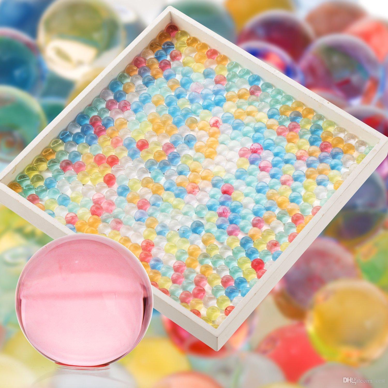 HOT pack Eau Aqua Cristal Sol Gel De Mariage Boule Perles Vase Pièce maîtresse Perles D'eau Magique Gelée Boule Après trempage 9-11mm