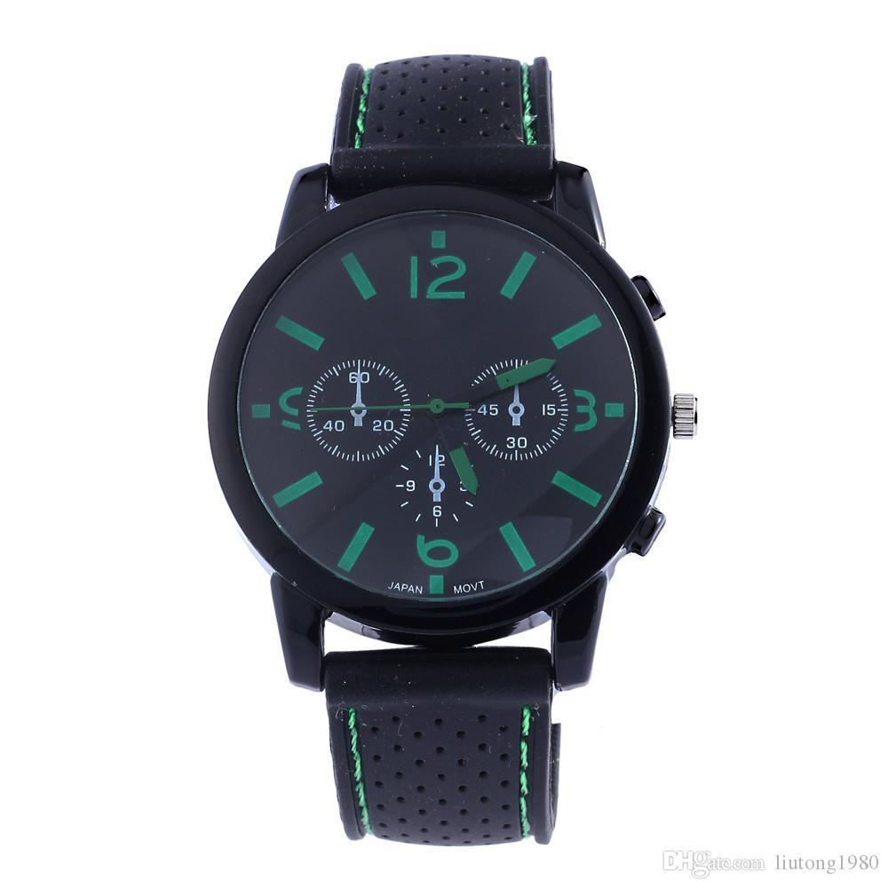 Relojes Tiendas de fábrica de moda clásica sin mesa carreras de autos Películas relojes Relojes negros nuevo reloj de línea Promociones