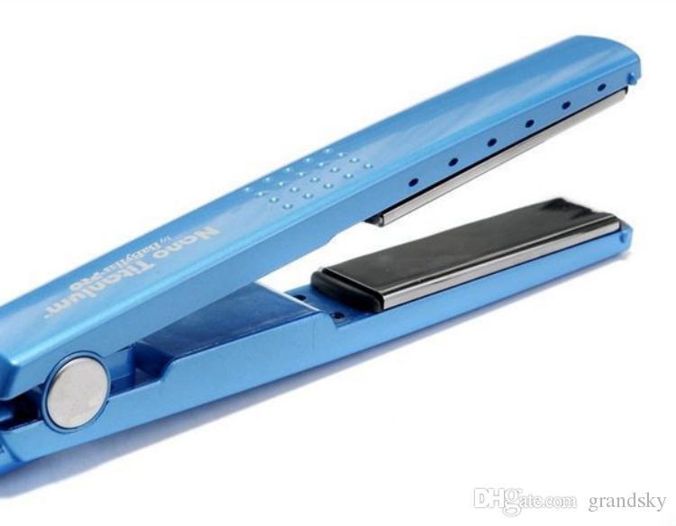 2016 Высокое качество PRO 450F 1 1/4 пластина Титан Выпрямитель для Волос Выпрямление Утюги Плоский Утюг бигуди