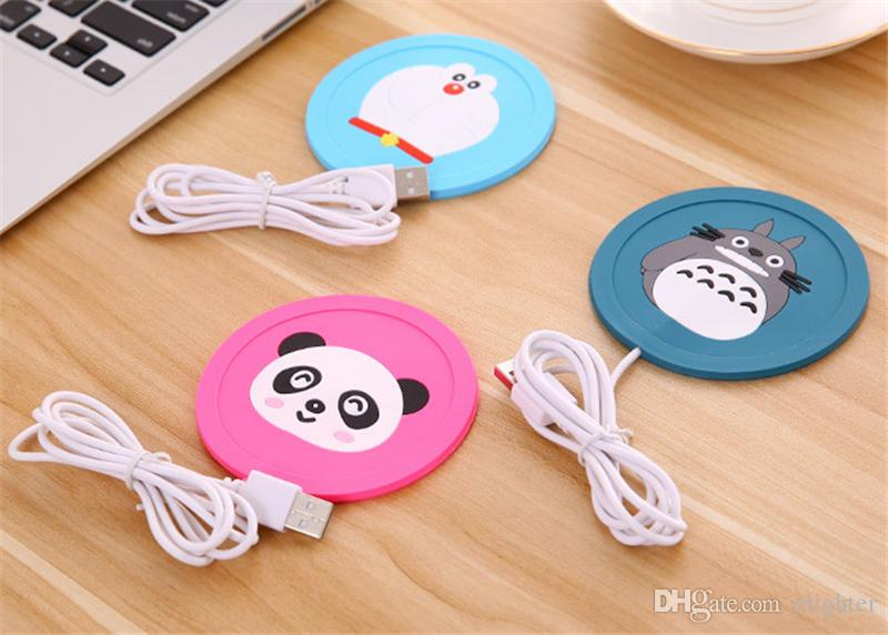 Cup Mug Pad Warmer Heater Cartoon 5V USB Silicone Heater for Milk Tea Coffee Mug Hot Drinks Beverage Cup Mat Pad best gift