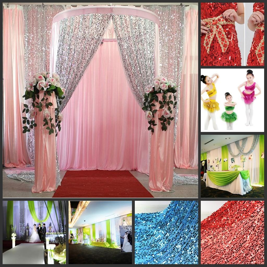 Multicolor Glitter Bling Sequins Cloth DIY Wedding Backdrop Curtains ...