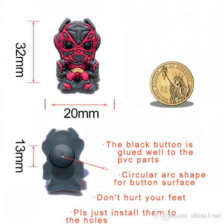 Transformers PVC Cartoon Shoe Charms Ornaments Buckles Fit for Shoes & Bracelets ,Charm Decoration,Shoe Accessories Party Gift
