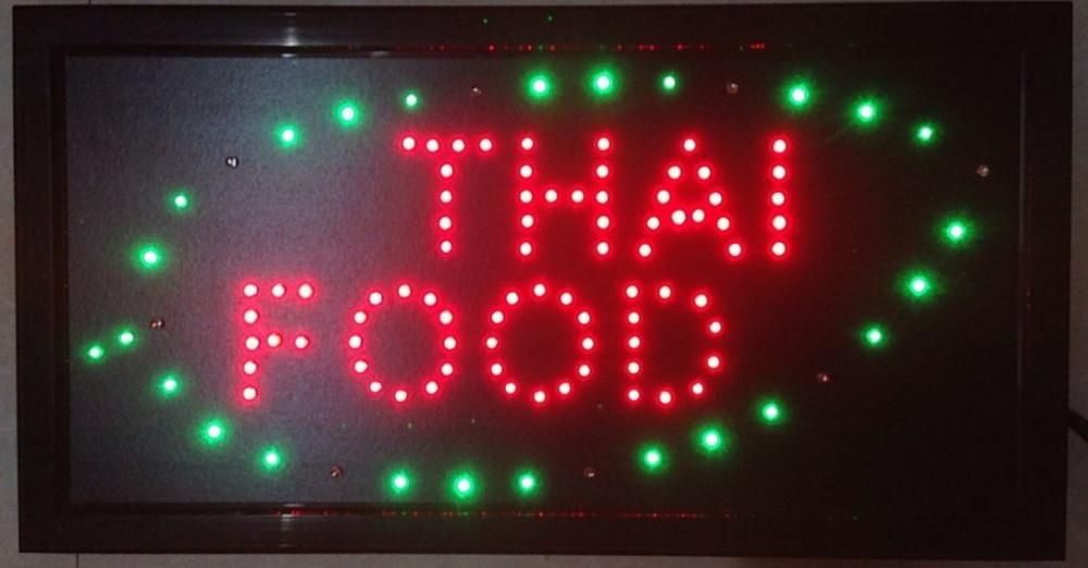 2019 Direct Selling custom indoor running 10X19 inch thai food store led sign led billboards wholesale