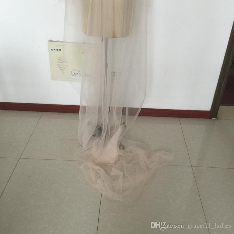 Blush Розовый собор Свадебные вуалии 26