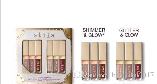 Stila Liquid Eye Shadow Set Olho para Elegância Seis cores Shimmer Brilho / Glitter Brilho Sombra Melhor Preço