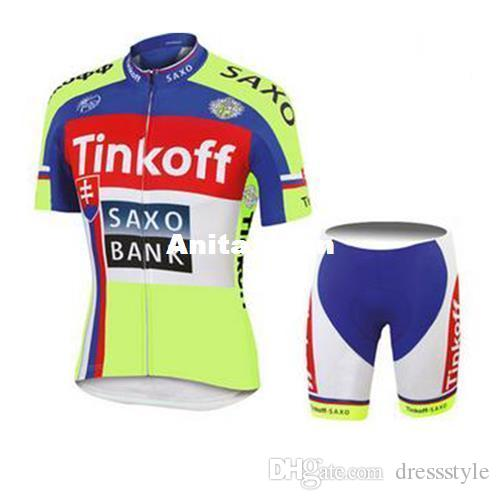 23205b12f Top Sale Tinkoff Saxo Bank TOUR DE FRANCE YELLOW Fluo SHORT SLEEVE ROPA  CICLISMO SHIRT CYCLING JERSEY CYCLING WEAR Size XS 4XL Road Bicycle Cycling  Clothes ...