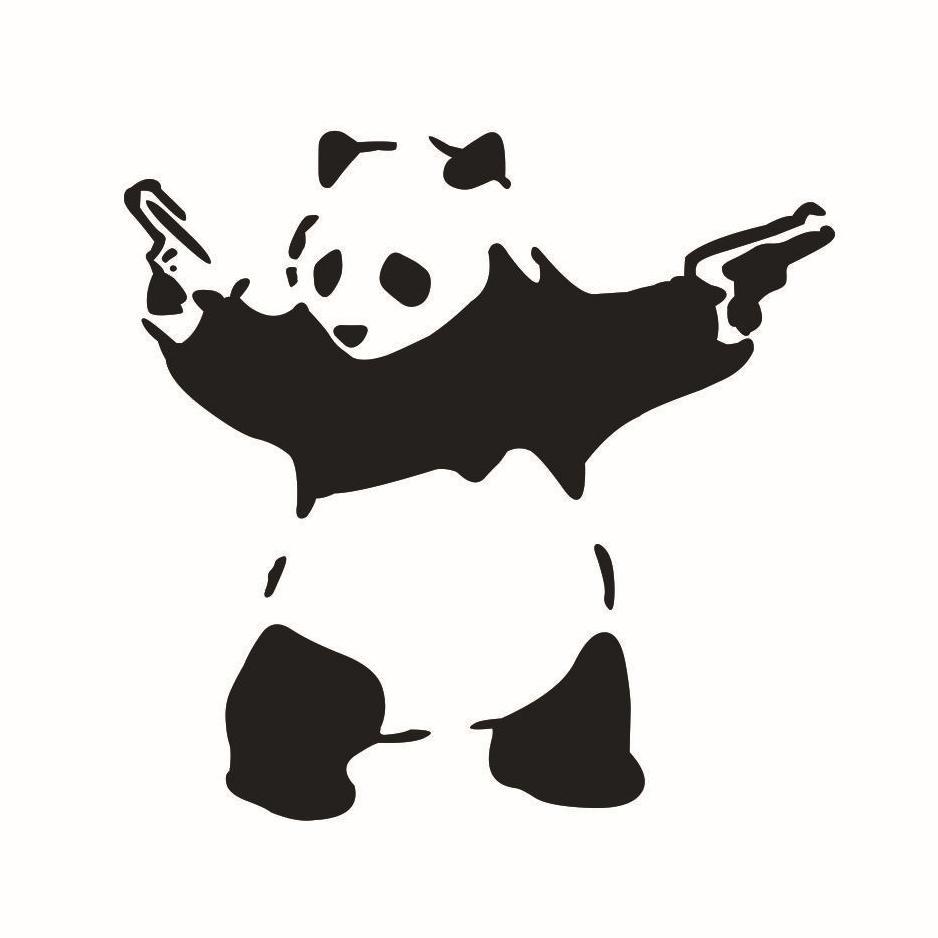 Netter Panda 3d Mit Gewehr Vinyl Jdm Abziehbild Selbstauto Fenster Fahrzeug Vollstandiger Korper Laptop Autoaufkleber Art Von Tonyhstore 1145 Auf De