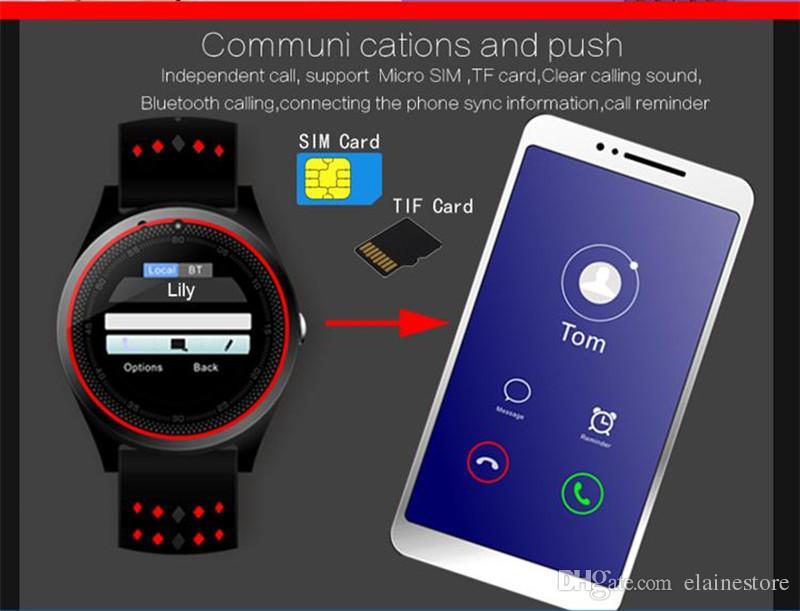 V9 smart watch relógios inteligentes android sim inteligente relógio do telefone móvel do sono monitor de esporte pedômetro relógio inteligente com caixa de varejo