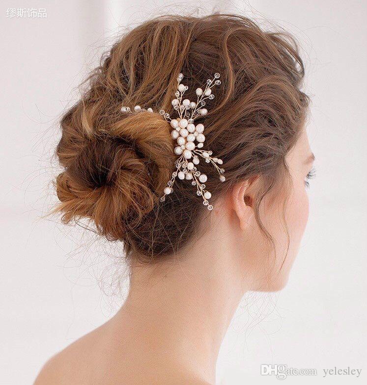 Romatic Cheap Bridal Crown Tiaras Wedding Jewelry Bohemia Hair Accessories Elegant Headpieces Frontlet Hair Band headbands for Bridal