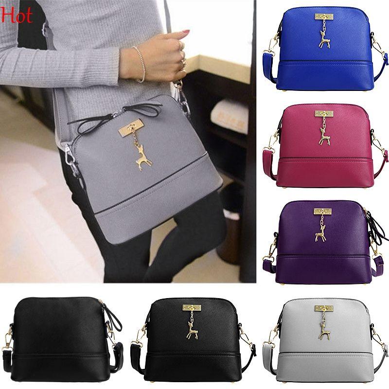 74deed03c8f5 Women Bag 2016 Fashion Pendant Deer Bags Crossbody Shell Designer Handbag  Leather Flap Shoulder Small Bag Ladies Messenger Bags Hot SV029901 Black  Leather ...