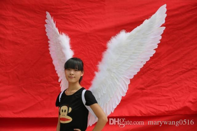 High quality nice large burgundy white angel feather wings Party accessories Halloween Event props fairy wings EMS