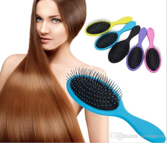 2017 Wet & Dry Hair Brush Hair Detangler Brush Massage Comb With Airbags Combs For Wet Hair Shower Brush B537