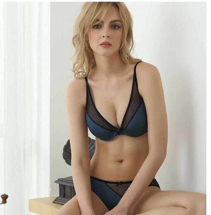 1d26ce4004 2019 Lady S Bra Set Microfiber Mesh Sexy Underwear Set Push Up Summer Women  Hot Sale From Beautygardely