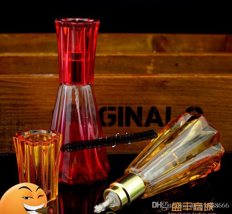 Lampe à alcool en verre coloré - pipe à fumer narguilé en verre Gongs en verre - plates-formes à huile