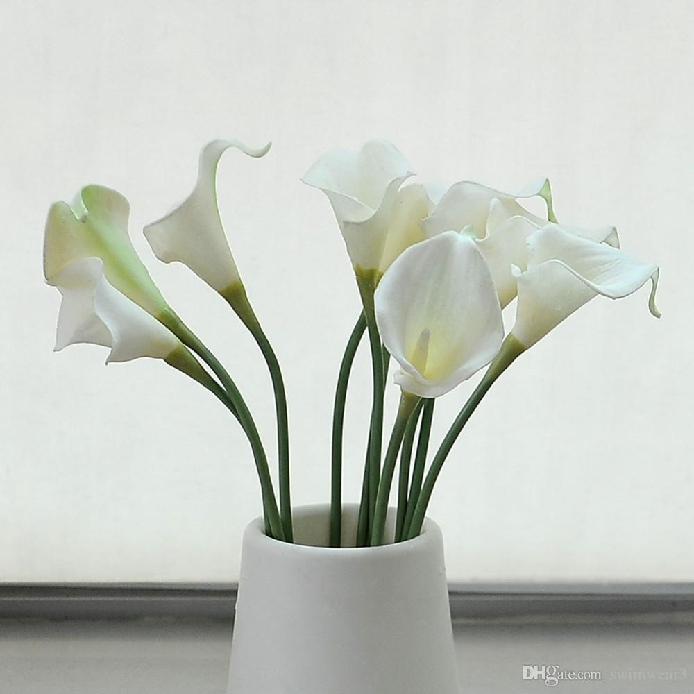 Best quality 10 head pu artificial calla lily flower wedding bridal best quality 10 head pu artificial calla lily flower wedding bridal bouquet home party decor at cheap price online decorative flowers wreaths dhgate izmirmasajfo