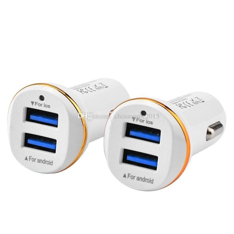 Schnelle Autoaufladeeinheit verdoppeln Doppel-USB-Häfen 3.1A Autoaufladeeinheit Adapter-Aufladeeinheiten für iphone 5 6 7 Samsung s7 s8 androides Telefon gps mp3