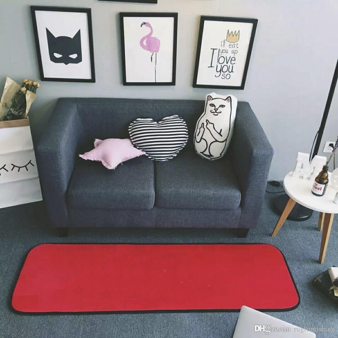 Brand New Red Flannel Home Furnishing Carpet 150 X 200 Cm Soft Yoga