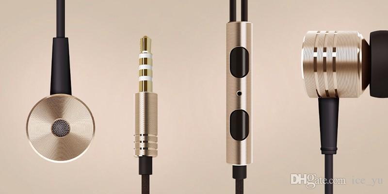 3.5 мм металл Xiaomi поршень Наушники Наушники шумоподавления наушники-вкладыши гарнитура наушники с микрофоном пульт дистанционного для Xiaomi Samsung iphone 6 6 S