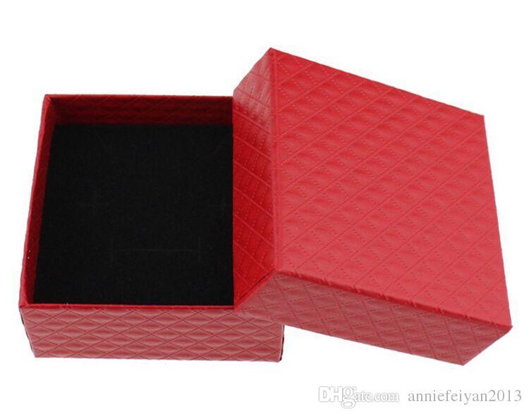 Dimensioni 7,3 * 7,3 * 3,5 cm Gioielli / Gioielli Collana Orecchini Anelli Set Regali Imballaggio Imballo Espositore Display Mostrando Scatola Caso con Bowknot