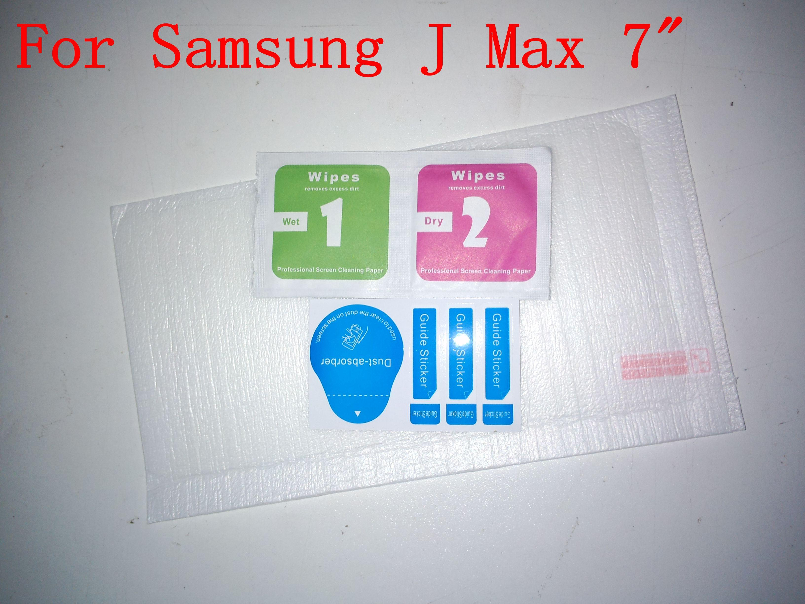 DHL For Samsung Galaxy J Max 7 Tab J Tempered Glass Protector Guard With Dust Absorb Wipe Retail Package for Samsung J Max 9h Glass Protector Anti