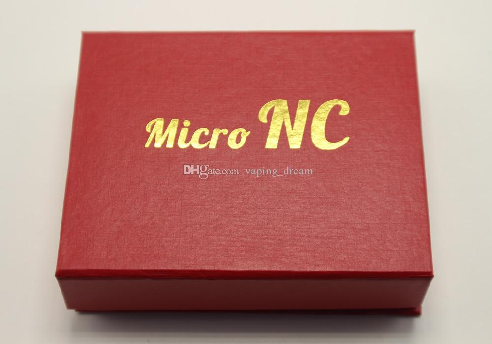 2016 kit di tubi in vetro micro NC 10mm con chiodo al quarzo senza tetto punta in titanio Dab Rig olio rig Bong nero rosso confezione regalo DHL